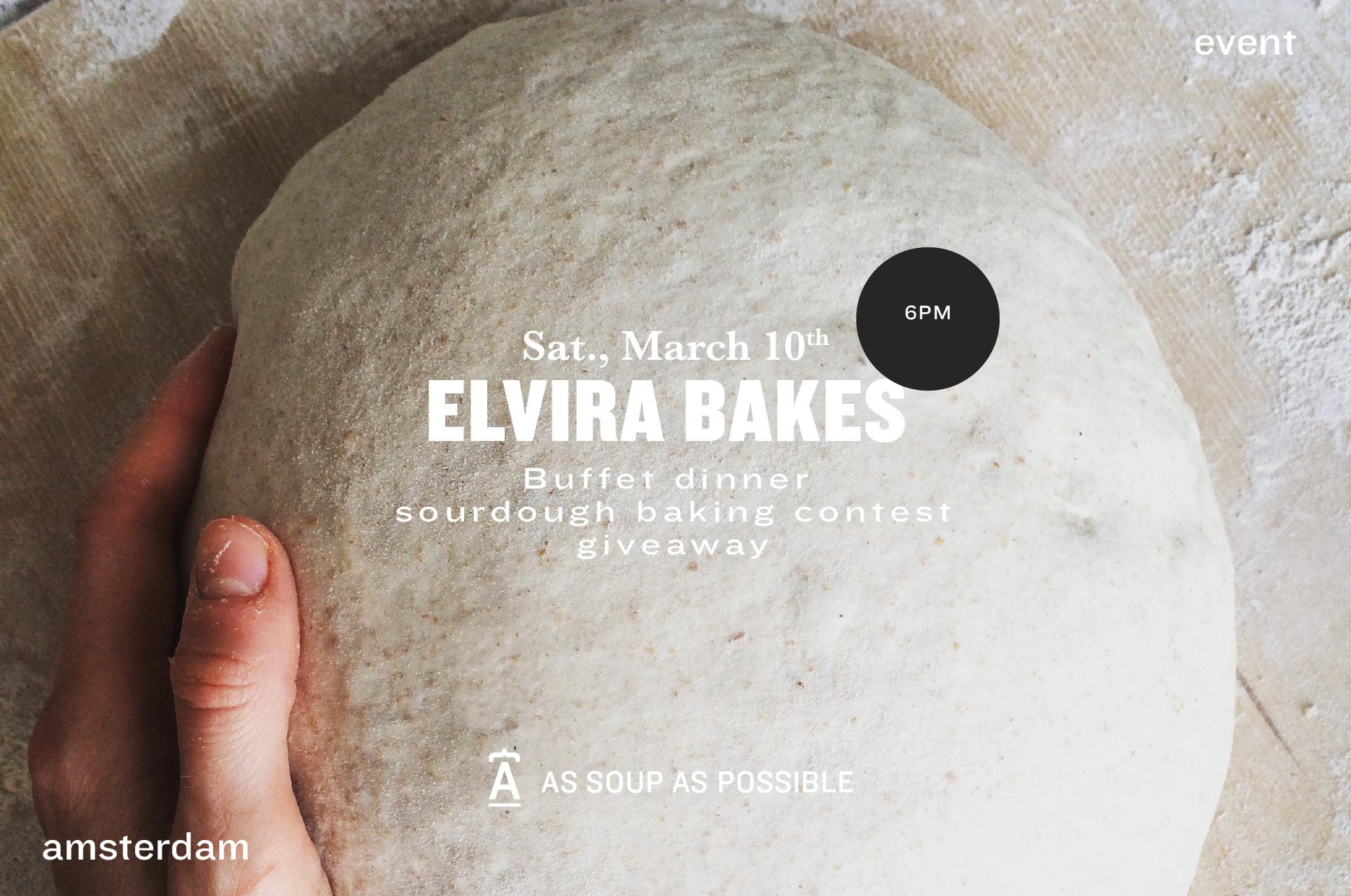 Elvira bakes